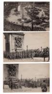 Paris Fetes De La Victoire 3 Anciennes Cartes Postales CPA 14 Juillet 1919 - War 1914-18