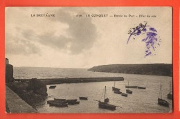 MIY-17  Le Conquet  Entrée Du Port. Effet Du Soir.  Circulé Sous Eneloppe - Le Conquet