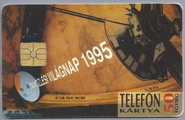 HU.- Hongarije. - Telefoonkaart. Telefon Kartya. MATAV. 1995 . Telefonkartya. Távközlési Világnap. 2 Scans - Hongarije