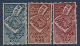 Foire De Paris 1942 - 3 Vignettes - Erinnophilie