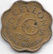 *ceylon 10 Cents  1944  Km 118     Xf+ - Sri Lanka