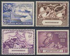 Montserrat 1949 Mi 109/12 Sc 108 /110 * MH - 75th Anniv. U.P.U. / 75 Jahre Weltpostverein - U.P.U.