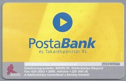HU.- Hongarije. - Telefoonkaart. Telefonkartya. 800 Ft. MATAV. PostaBank. . 2 Scans - Hongarije