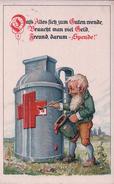 Allemagne, Ortssammelkomitee Nürnberg Vom Roten Kreuz, Nain, Illustrateur C.S. Luber (5.5.1918) - Weltkrieg 1914-18
