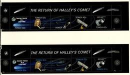 ESPACE - Comète De Halley - Tonga 1986 Y&T N°615 à 624 *** - Space
