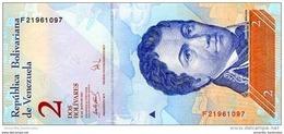 VENEZUELA 2 BOLIVARES 2007 P-88b UNC 24.5.2007 [ VE088b ] - Venezuela