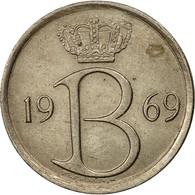 Belgique, 25 Centimes, 1969, Bruxelles, TTB, Copper-nickel, KM:154.1 - 02. 25 Centimes