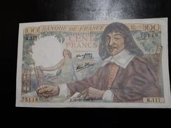 100 Fr Descartes Du12/101944 SUP - 1871-1952 Circulated During XXth