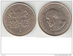 Kenya 1 Shilling 1971  Km 14 Unc - Kenya
