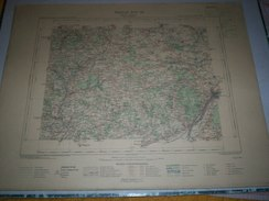 CARTE GEOGRAPHIQUE  G - Format  45 X 57 De INDRE Et LOIR_LOIR Et CHER_Feuille  BLOIS _OUEST_ XIV  18 ) En1885 - Geographische Kaarten