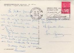 THEME  SKI    CHAMONIX GRAND PRIX DE SAUT A SKI  27 JANVIER  1974 - Marcofilie (Brieven)