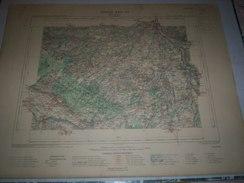 CARTE GEOGRAPHIQUE  G - Format  45 X 57 De LOIRET_Feuille MONTARGIS_ XVII  17 ) En1900 - Carte Geographique
