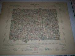 CARTE GEOGRAPHIQUE  G - Format  45 X 57 De ILLE Et VILAINES_MORBIHAN_Feuille BAIN_ VIII  17 ) En1897 - Geographische Kaarten