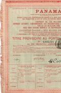 Obligation Ancienne - Compagnie Universelle Du Canal Interocéanique De Panama - Titre De 1888 - - Transports