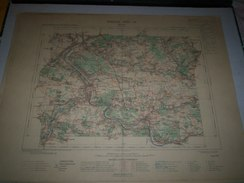 CARTE GEOGRAPHIQUE  G - Format  45 X 57 De SEINE_SEINE Et MARNE_SEINE Et OISE_Feuille MELUN_ XVII  14 ) En1894 - Geographische Kaarten