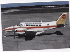 Postcard - Aircraft -AIR NEW ORLEANS / CONTINENTAL EXPRESS- Type- Beech C99. - 1946-....: Modern Tijdperk