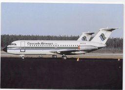 Postcard - Aircraft -CASCADE AIRWAYS - Type- BAC-111-401AK. - 1946-....: Modern Tijdperk