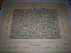 CARTE GEOGRAPHIQUE  G - Format  45 X 57 De CORREZE_HAUTE VIENNE_Feuille EYMOUTIERS_ XV  26 ) En1899 - Geographical Maps