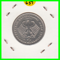 ALEMANIA - GERMANY -MONEDA DE 2.00 DM. THEODOR HEUSS - AÑO 1971-F - [ 7] 1949-… : RFA - Rep. Fed. Alemana