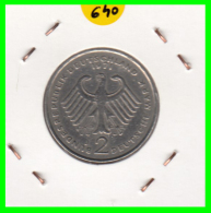 ALEMANIA - GERMANY -MONEDA DE 2.00 DM. THEODOR HEUSS - AÑO 1971-J - [ 7] 1949-… : RFA - Rep. Fed. Alemana