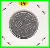 ALEMANIA - GERMANY -MONEDA DE 2.00 DM. THEODOR HEUSS - AÑO 1972-J - [ 7] 1949-… : RFA - Rep. Fed. Alemana