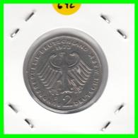 ALEMANIA - GERMANY -MONEDA DE 2.00 DM. THEODOR HEUSS - AÑO 1973-D - [ 7] 1949-… : RFA - Rep. Fed. Alemana