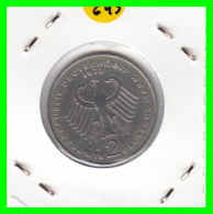 ALEMANIA - GERMANY -MONEDA DE 2.00 DM. THEODOR HEUSS - AÑO 1973-J - [ 7] 1949-… : RFA - Rep. Fed. Alemana