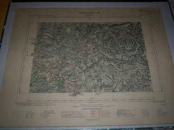 CARTE GEOGRAPHIQUE  G - Format  45 X 57 De HAUTE ALPES_ISERE_Feuille VALBONNAIS_ XXIV  29 ) En1901 - Geographische Kaarten