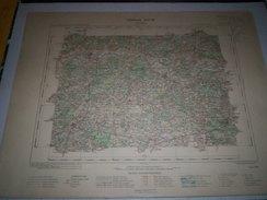 CARTE GEOGRAPHIQUE  G - Format  45 X 57 De INDRE Et LOIR_MAINE Et LOIRE_ SARTHE_Feuille LA FLECHE_ XII  18 ) En1902 - Geographische Kaarten