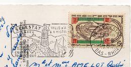 1968--tp Millénaire Du Mont St Michel Seul Sur Carte Postale HAUT KOENISBOURG--cachet Sélestat--67 - Marcophilie (Lettres)