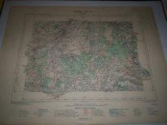 CARTE GEOGRAPHIQUE  G - Format  45 X 57 De CHER_INDRE_Feuille  ISSOUDUN_ XVI  21 ) En1890 - Geographische Kaarten