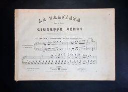 Musica Spartiti - La Traviata - G. Verdi - N. 2 Atto I Introduzione - Pianoforte - Alte Papiere
