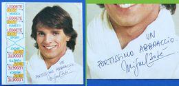Autografo E Dedica Del Cantante Miguel Bosè - 1977 Ca. - Autografi