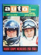 Rivista Automobilismo - Auto Italiana N° 48 - 1968 - Mercedes Coupè 250 E 250E - Unclassified