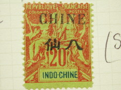 1902 Sg 7 20c Red / Green - Unused Stamps