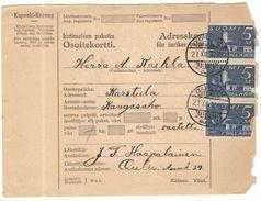 FINLANDIA - Finland - 1930 - Osoitekortti, Kotimaisen Paketin - Adresskort Paket Packet Freight Bill Card - Viaggiata Da - Finlandia