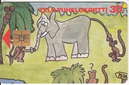 FINLAND - Elephant, Tirage 60000, 10/94, Used - Télécartes