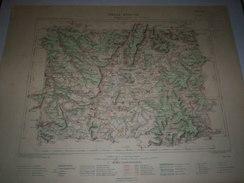 CARTE GEOGRAPHIQUE  G - Format  45 X 57 De Htes MARNE_ VOSGES_Feuille De NOGENT Hte Marne  XXIII  16 ) En1883 - Geographische Kaarten