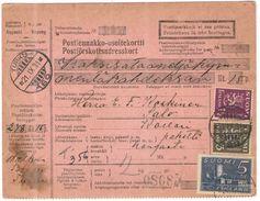 FINLANDIA - Finland - 1931 - Postiennakko-Osoitekortti - Adresskort Paket Packet Freight Bill Card - Viaggiata Da Turku - Finland