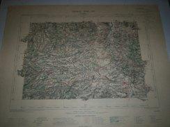CARTE GEOGRAPHIQUE  G - Format  45 X 57 De PUY De DOME_Feuille De ISSOIRE  XVIII  26 ) En1894 - Geographische Kaarten