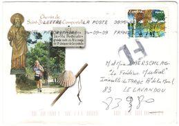 FRANCIA - France - 2009 - Lettre Prioritaire 20g Centre: Le Bouleau - FD, Fausse Direction - Chemin Saint-Jacques De Com - Francia