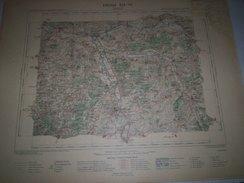 CARTE GEOGRAPHIQUE  G - Format  45 X 57 De YONNE_Feuille De AUXERRE  XIX  17 ) En1897 - Geographical Maps