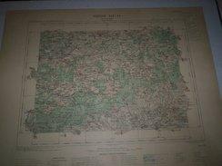 CARTE GEOGRAPHIQUE  G - Format  45 X 57 De AUBE_YONNE_Feuille De AIX En OTHE  XIX  16 ) En1896 - Geographical Maps