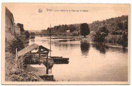 Yvoir - L'Ile D'yvoir Et Le Pont Sur La Meuse - Yvoir