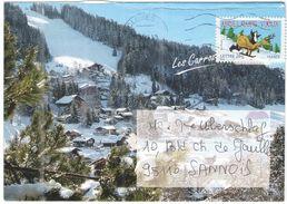 FRANCIA - France - 2006 - Lettre 20g Meilleurs Voeux - Les Carroz D'Arâches - Enveloppe Illustrée - Viaggiata Da Cluses - Francia