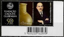 Portugal 2006 50º Aniv Fundação Calouste Gulbenkian Corporate, 1 Val MNH Código Barras  Mundifil 3441A - 1910 - ... Repubblica