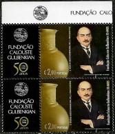 Portugal 2006 50º Aniv Fundação Calouste Gulbenkian Corporate, Par Vertical Topo De Folha MNH - 1910 - ... Repubblica