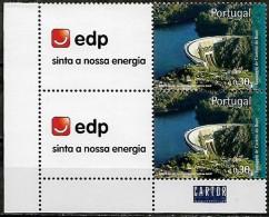 Portugal 2007 Barragens Portuguesas EDP Corporate Dam, Par Vertical De Canto MNH Mundifil 3535A - 1910 - ... Repubblica