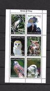 O) 1999 KYRGYZSTAN, BORDS OF PREY, OWL-EAGLE-CONDOR,MINI SHEET, MNH - Kyrgyzstan