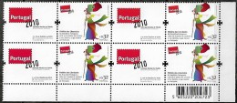 Portugal 2010 Liberdades Freedom Libertés Exposição Portugal 2010 Corporate, 1 Quadra Canto MNH,  Mundifil 4027A - Nuovi